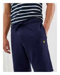 Lyle & Scott – Marineblaue Sweatshorts in Blue für Herren