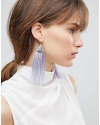 ASOS - Metallic Asos Folded Metal Colour Pop Tassel Earrings - Lyst