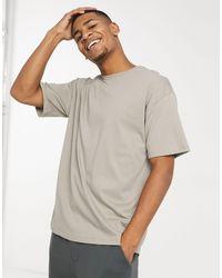 New Look – Oversize-T-Shirt in Gray für Herren