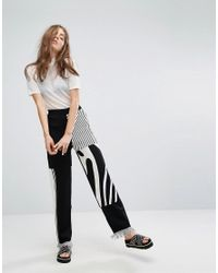 Weekday Black Press Collection Knit Pants