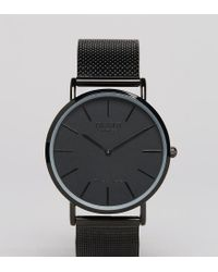 Montre Homme Maille Avec Bracelet Classique Noir Exclusivit Asos De Coloris En mNn0wv8O