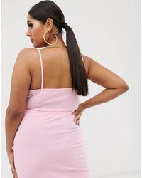 Top corto per uscire rosa con cut-out di Fashionkilla in Pink