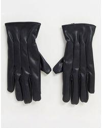 Черные Перчатки Из Искусственной Кожи -черный Jack & Jones для него, цвет: Black