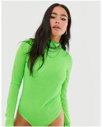 Merin - Body a maniche lunghe di Noisy May in Green