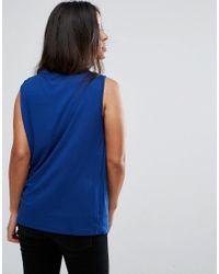 ASOS Blue Nursing Side Zip Drape Tank