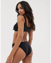 Slip bikini a coste nero di Pimkie in Black