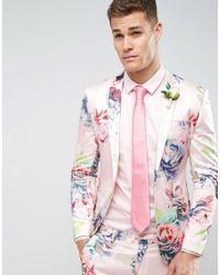 ASOS - Wedding Tie In Pink for Men - Lyst