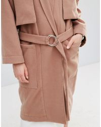 House Of Sunny Brown Luxe Casual Trench Coat