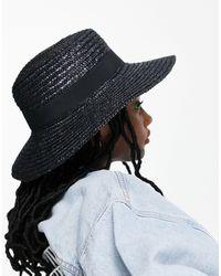 Эксклюзивная Соломенная Шляпа Канотье Черного Цвета -черный Цвет South Beach, цвет: Black