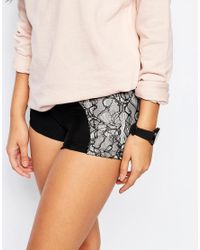 Blue Life | Black Contrast Lace Shorts | Lyst