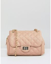 Marc B. Natural Mini Knightsbridge Quilted Across Body Bag