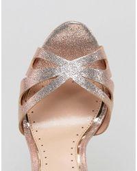Miss Kg - Metallic Fabienne Jewelled Butterfly Platform Heeled Sandals - Lyst