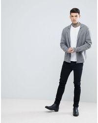 ASOS - Knitted Blazer In Gray for Men - Lyst