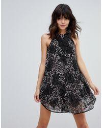 Raga Black Galactic Embellished Shift Dress