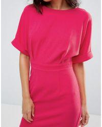 ASOS - Pink Mini Wiggle Dress - Lyst