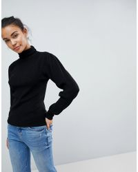 Fashion Union Black Polo Neck Jumper