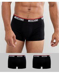 Confezione da 2 boxer aderenti di Moschino in Black da Uomo