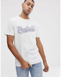 Penfield – Mendona – es T-Shirt mit Rundhalsausschnitt und Logo auf der Brust in White für Herren