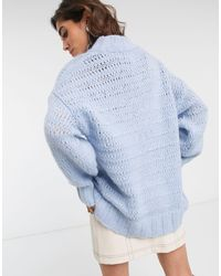 TOPSHOP Blue Jumper With Crew Neck