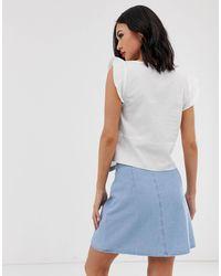 Camicia bianca con nodo sul davanti di Oasis in White