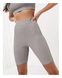 Leggings cortos confort mix & match ASOS de color Gray
