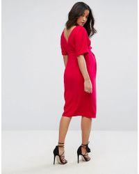 ASOS Pink Smart Woven Dress With V Back