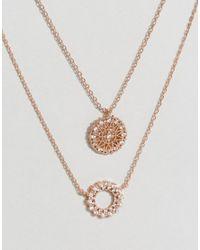 ALDO - Metallic Natisone Rose Gold Necklace - Lyst