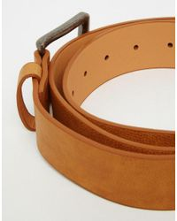 ASOS - Brown Belt In Tan Faux Leather for Men - Lyst