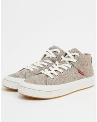 Levi's Gray Recycled High-top Sneakers