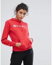 Champion Red Logo Hoodie