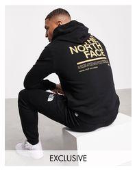 Худи Черного Цвета Message – Эксклюзивно Для Asos-черный The North Face для него, цвет: Black