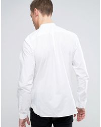 Jack & Jones - White Premium Slim Grandad Shirt In Texture for Men - Lyst
