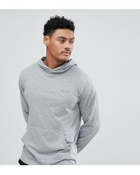 Nicce London Gray Lounge Hoodie With Small Logo for men