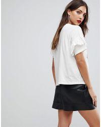 Mango - White Skull And Roses T-shirt - Lyst