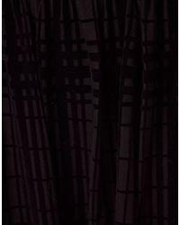 ASOS Black Maxi Skirt in Sheer Check