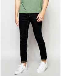 Threadbare - Blue Skinny Jeans In Mid Wash for Men - Lyst