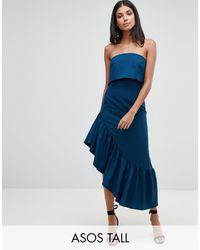 Vestido midi suave con diseño palabra ASOS de color Blue