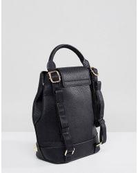 Dune - Black Studded Backpack - Lyst
