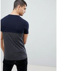 French Connection Blue Block T-shirt for men