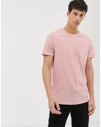 Threadbare – T-Shirt mit Tasche in Pink für Herren