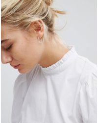 ASOS - Metallic Design Pack Of 3 Sterling Silver Hoop Earrings - Lyst