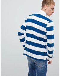 Maillot de rugby à rayures - Bleu marine et blanc Benetton pour homme en coloris Blue