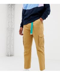 Collusion Brown Skater Fit Cargo Pants In Tan for men