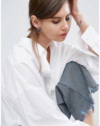 ASOS Multicolor Flat Disc Stud Earrings