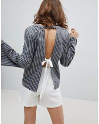 UNIQUE21 Gray Backless Top