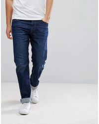 DIESEL Waykee Jeans In Mid Wash Blue for men