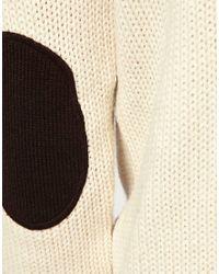 ASOS Natural Button Through Funnel Neck Cardigan for men