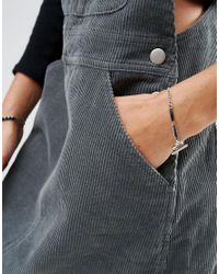 ASOS - Metallic T Bar Chain Bracelet - Lyst