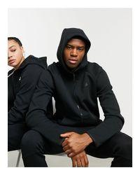 Nike Black Fullzip Tech Fleece Hoodie for men