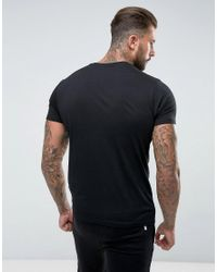 Nicce London Black Nicce T-shirt With Reflective Logo for men